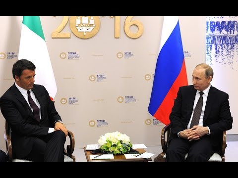 Vladimir Putin. Joint news conference with Prime Minister of Italy Matteo Renzi