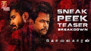 Kolaigaran Sneak Peek Teaser Breakdown   Arjun   Vijay Antony   Andrew Louis   Simon K King