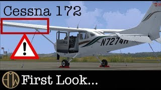 A2A Cessna 172 First Look, Short Flight and STOL Madness! [HD 1080]