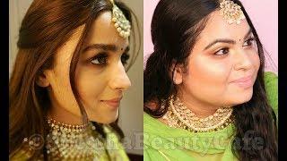 Alia Bhatt Inspired Makeup Tutorial From Sonam Kapoor Reception | SRESTHA GHOSE |