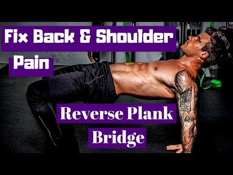 Best Exercise for Back and Shoulder Pain | Reverse Plank Bridge