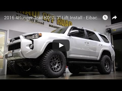 2016 4runner Lifted >> 2016 4runner Trail Kdss 3 Lift Install Eibach Spc Bfg Km2
