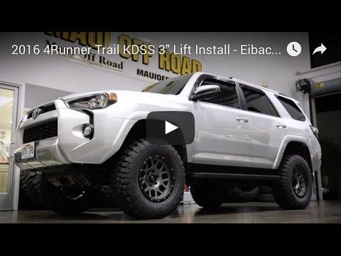 2016 4runner Lifted >> 2016 4runner Trail Kdss 3 Lift Install Eibach Spc Bfg Km2 Procomp Vertigo Wheels
