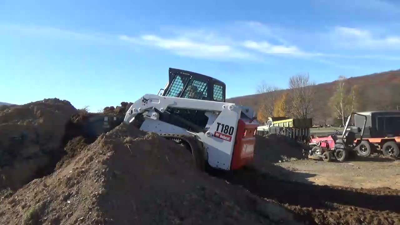 2010 Bobcat T180 Rubber Track Skid Steer Loader Cab Heat Air Power Attach  For Sale