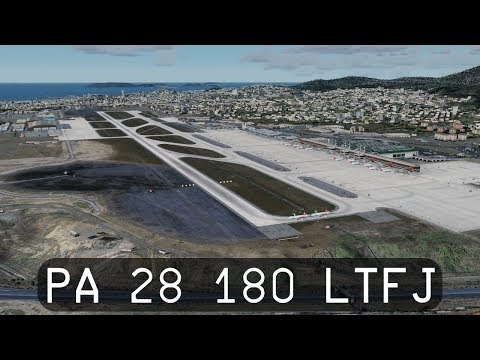 Prepar3d V4.1 - Flying the A2A Piper PA-28 180 Cherokee around Sabiha Gökçen (LTFJ)