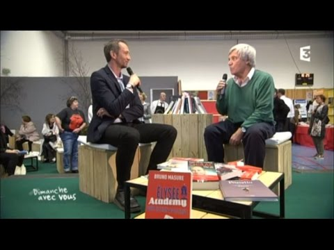 Bruno Masure, Franz-Olivier Giesbert, Daniel Leclercq au salon du livre de Bondues