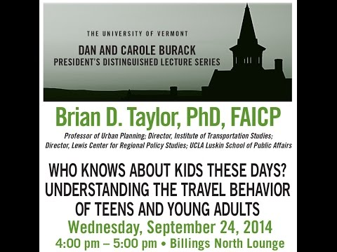 Burack Lecture Series - Dr. Brian Taylor, UCLA