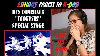 K pop reaction: BTS - Dionysus (Comeback Special Stage)
