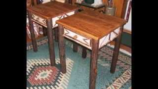 Birch Bark and Hickory Twig Rustic Furniture from ADIRONDACK RUSTIC DESIGNS