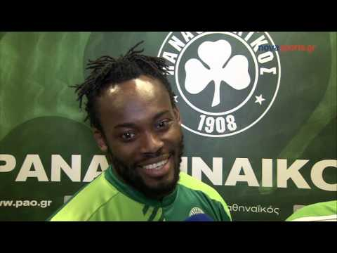 Michael Essien speaks about his career in Greece with Panathinaikos