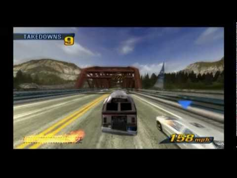Burnout 3: Takedown - road rage with bus