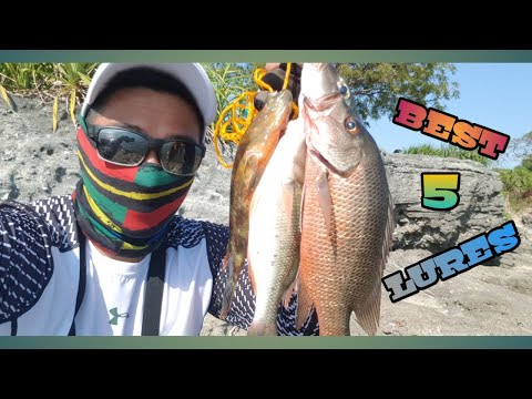 BEST 5 LURES FOR SHORE SALTWATER FISHING | Techniques