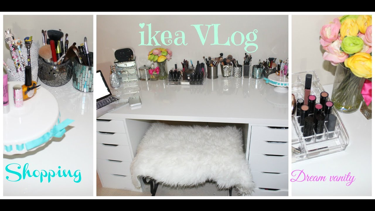 shopping for vanity desk at ikea vlog first ikea vlog