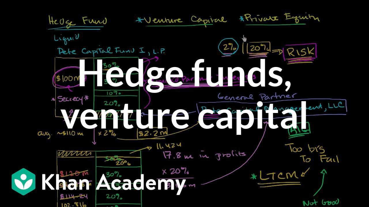 Hedge funds, venture capital, and private equity (video