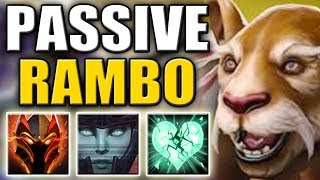Insane Mega Creeps COMEBACK - Rampage [Dragon Blood + Blur + Heartstopper Aura] Dota 2 Ability Draft