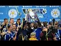 Leicester City Players Lift Premier League Trophy Trophy Presentation Champions 2016 ✔