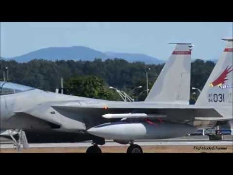 Muliple Oregon ANG F-15s takeoff and a unrestricted climb at Portland