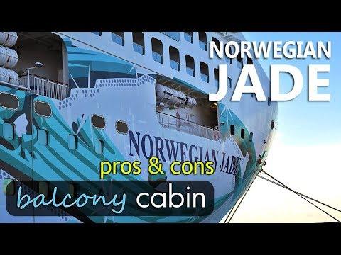 Norwegian Jade balcony cabin tour - pros and cons