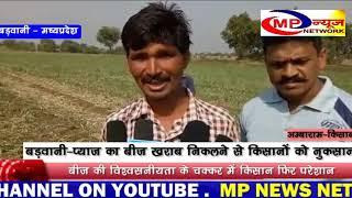 बड़वानी-  प्याज का बीज खराब निकलने से किसानों को नुकसान   MP NEWS NETWORK BARWANI