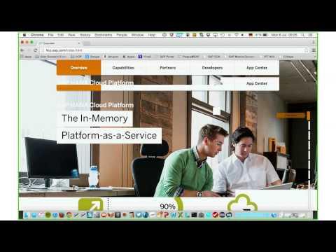 Webcast SAP's Hana Cloud Platform
