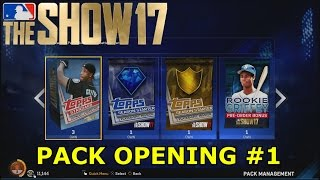 PULLING MY FIRST DIAMOND | MLB The Show 17 | PACK OPENING #1