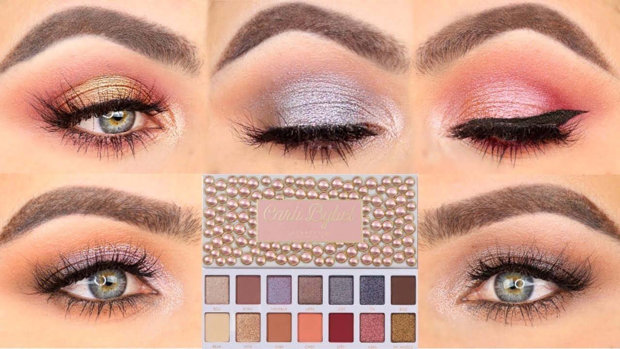 5 Looks 1 Palette Five Eye Looks With The Carli Bybel Palette By