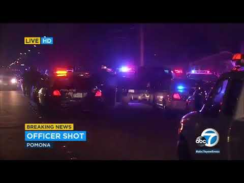 2 officers shot and wounded in Pomona California, USA