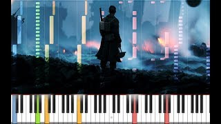 """Dunkirk Soundtrack - """"Supermarine"""" (By Hans Zimmer) - MIDI Cover on Synthesia"""