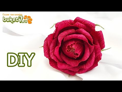 Розы из гофрированной бумаги с конфетами видеоурок