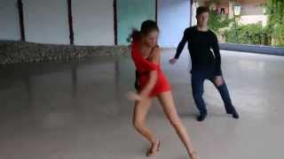 Александра Повзун и партнёр Артём. Педагоги латино-американских танцев в лагере Олимп.