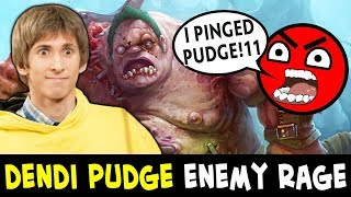 When DENDI picks PUDGE — enemy RAGE