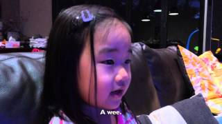 "What the?!! Little girl tries to sing ""Let It Go"" from Frozen."