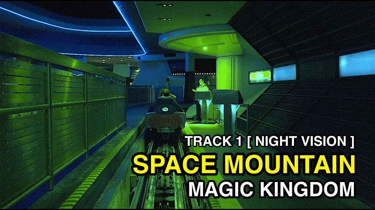 K Space Mountain Track WNight Vision Magic Kingdom - Space track