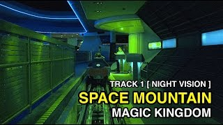 [4K] Space Mountain – Track 1 w/Night Vision : Magic Kingdom (Orlando, FL)