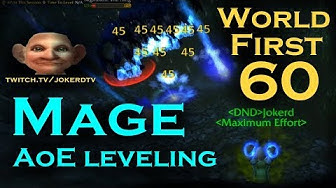 WoW Classic: Mage AoE leveling - World First 60 by JokerdTV