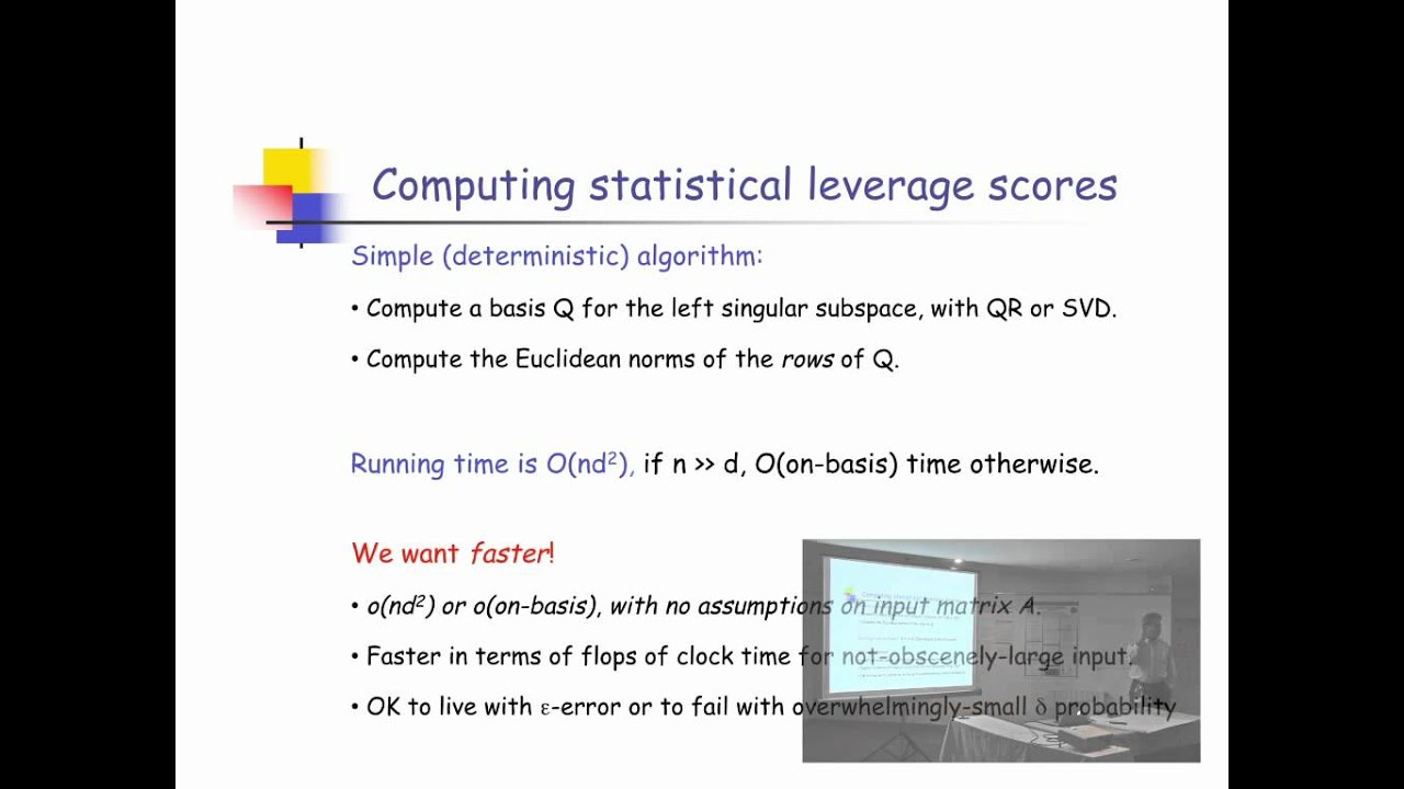 NIPS 2011 Sparse Representation & Low-rank Approximation Workshop: Fast Approximation...