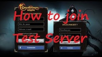 drakensang online / How to Login and Create an Account in a test Server