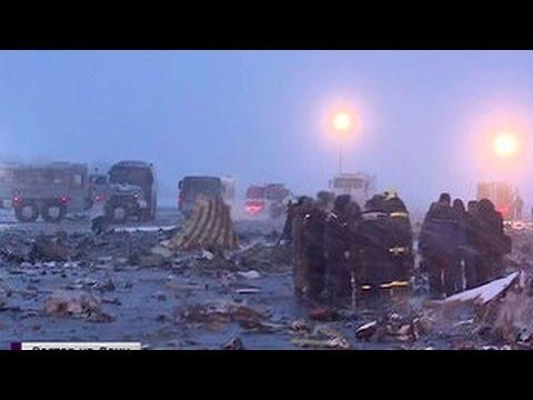 Катастрофа в Ростове: эксклюзивные кадры с места крушения Boeing FlyDubai