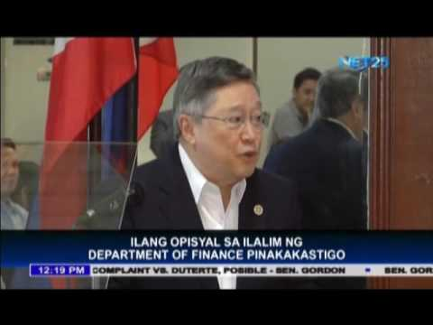 DOF chief wants to ax several finance officials
