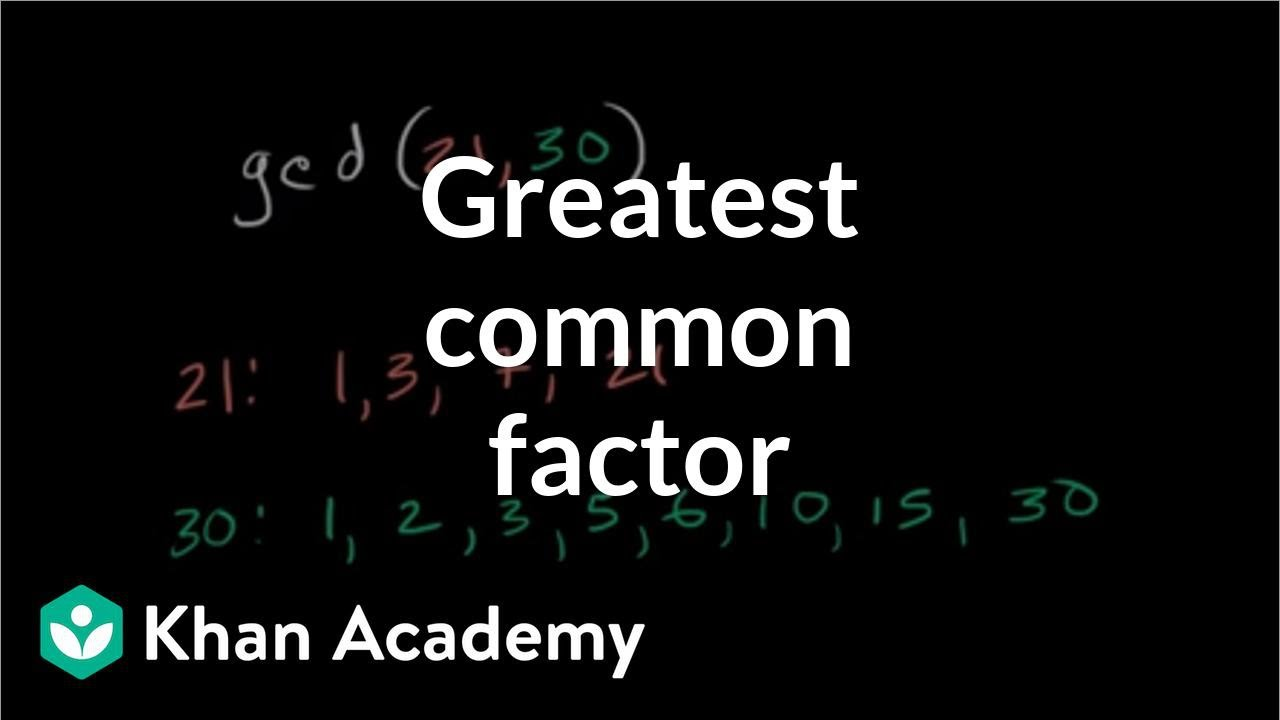Common Factor 24 And 36 Greatest