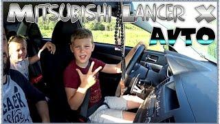 ВЛОГ: Эдвин учиться ездить [ водить ] на машине Уфа Отец и Сын  Mitsubishi Lancer X 2016 VLOG