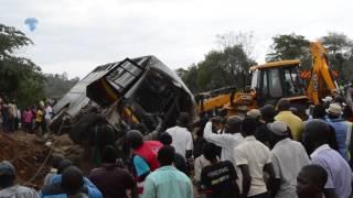 Accident along Kisumu-Kakamega road involving a Kenya Prison service bus claims a life