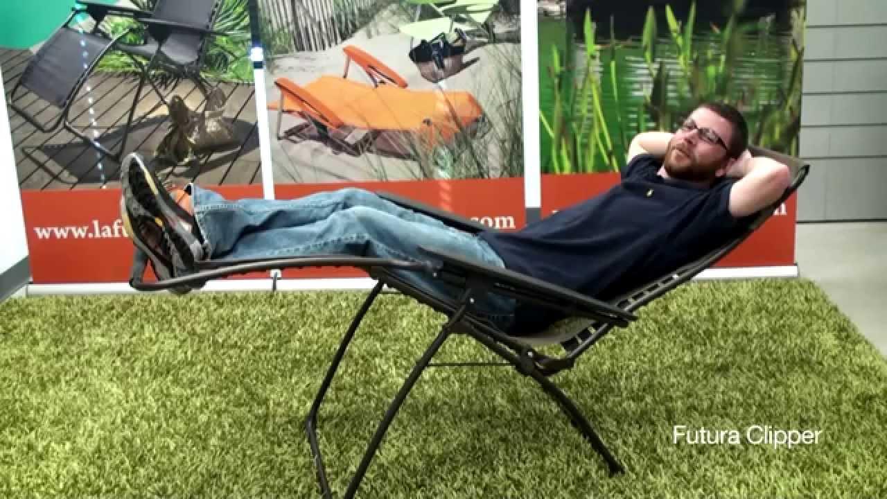 lafuma futura xl zero gravity chair back relief recliner details youtube
