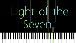 How to Play Game of Thrones- Light of the Seven/ Piano Tutoria…