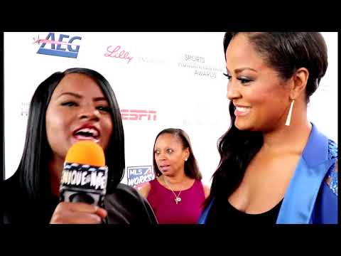 Laila Ali Interview at the Sports Humanitarian Awards