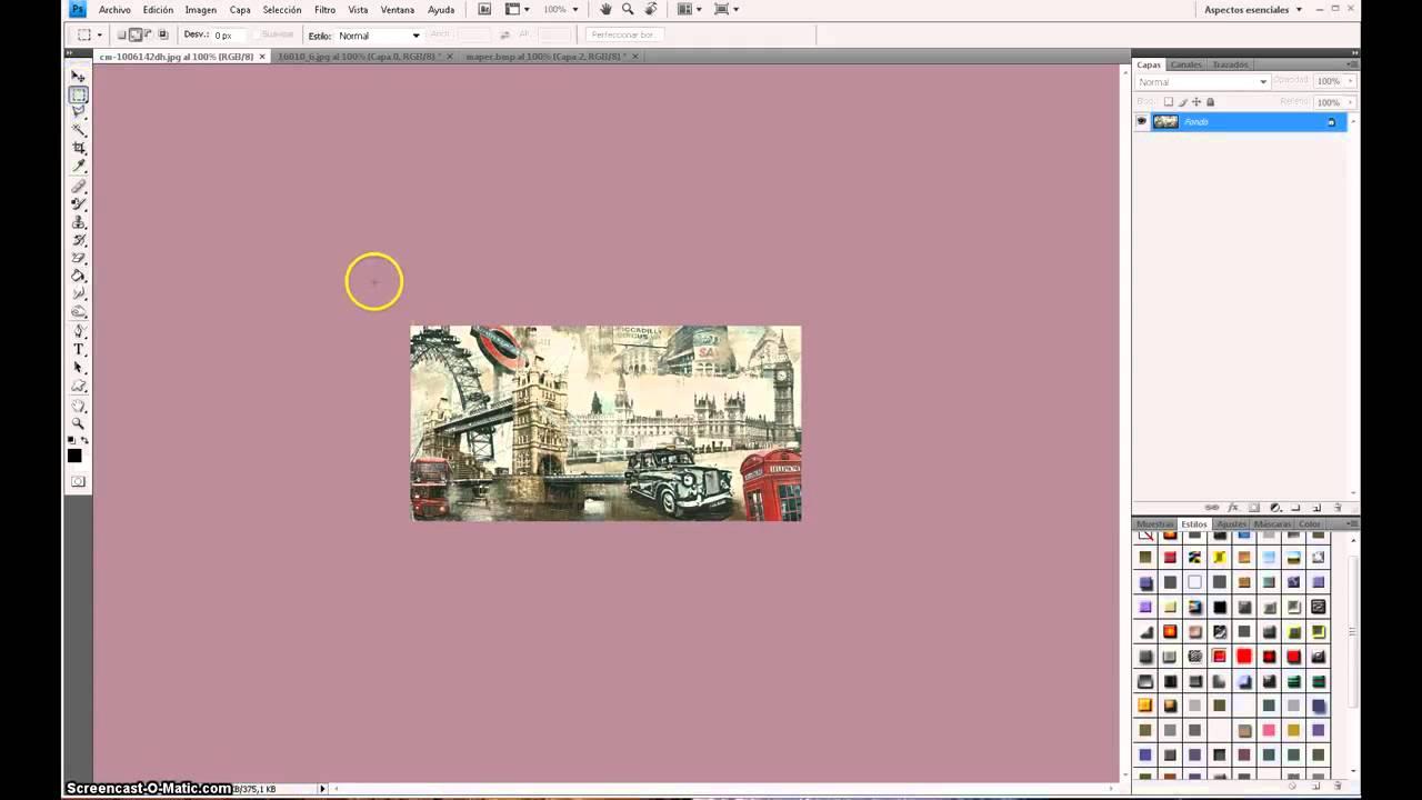 Tutorial Cuadros sin marco 2ª parte - YouTube