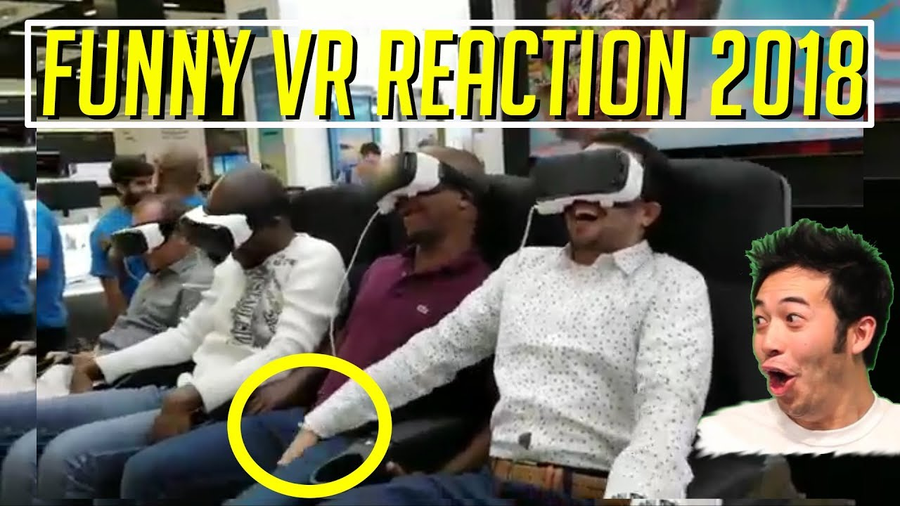 Funny Virtual Reality Vr Fail Reactions 2 Compilations Funny Vr Reactions 2018 Youtube