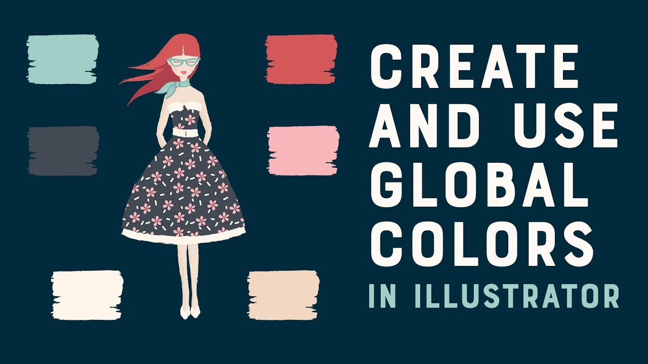 How To Create And Use Global Colors In Adobe Illustrator