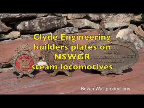 Clyde builders plates on NSWGR steam locomotives