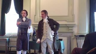 Hamilton and Jefferson debate the First Bank of the US